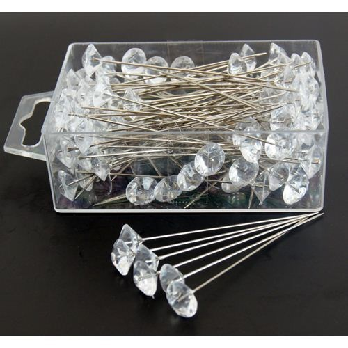 Diamante Pins - large (box of 100)