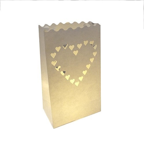 Heart Candle Bag 12pk