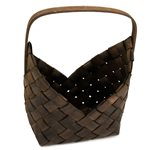 Wooden Weaved Basket - Dark Brown 200x120x300mmH