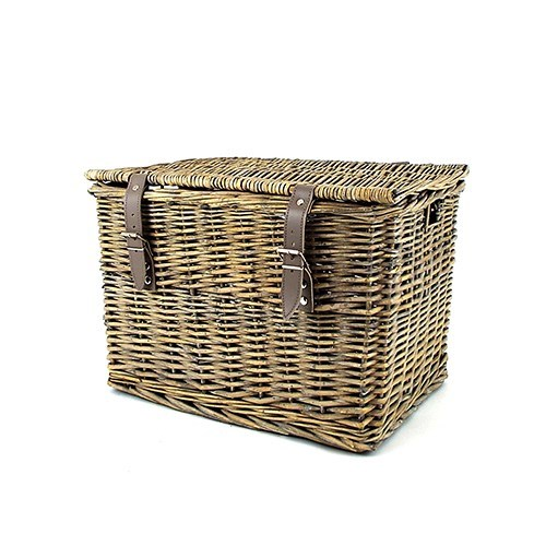Grey Willow Hamper Basket