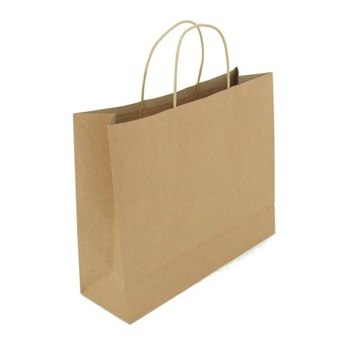 Kraft Carry Bags Large (10pk)