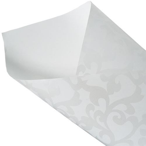 Pearlwrap - Damask Pearl on White