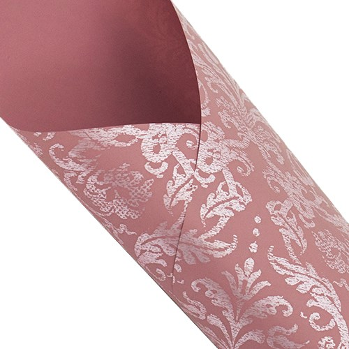 Pearlwrap - Damask Pearl on Pink