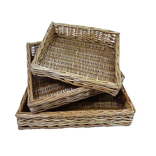 Square Willow Basket Trays