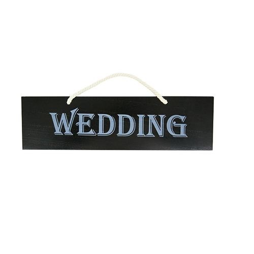Reversible 'WEDDING' Sign