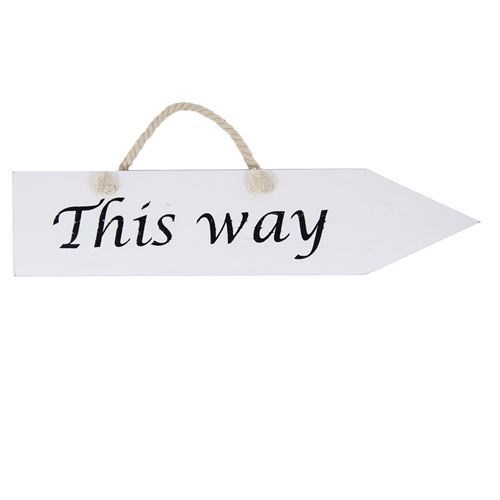 Reversible 'This Way' Sign