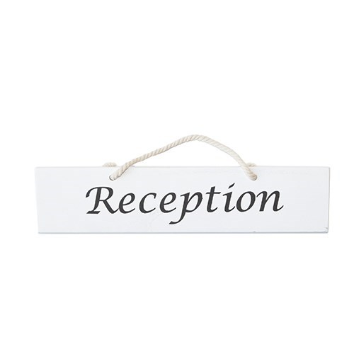 Single Sided 'Reception' Sign