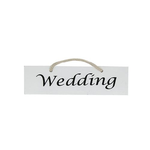 Single Sided 'Wedding' Sign