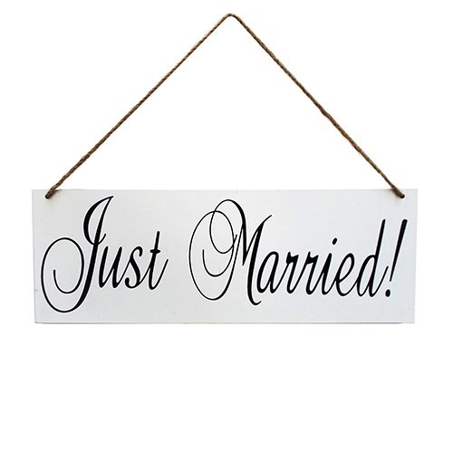 Just Married! Sign