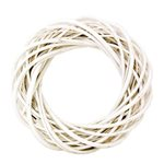 Small Willow Wreath - White - 350mmD