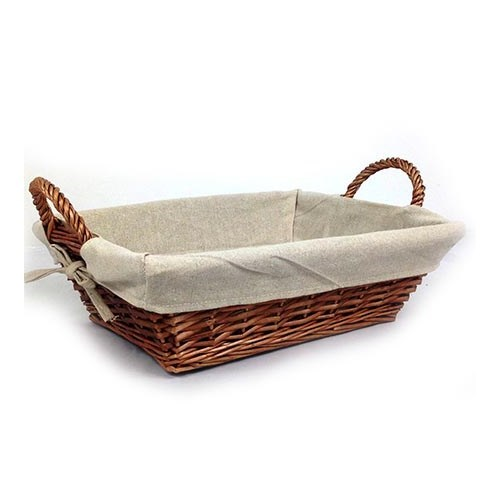 Basket Tray / Linen Lined - 350x285x110H