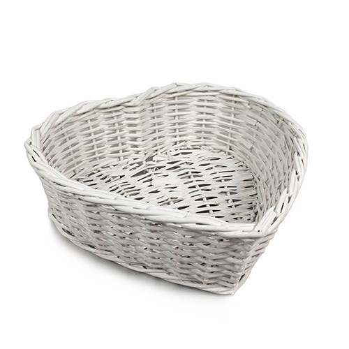 Heart Basket White - 33 X 32 X 10cmH