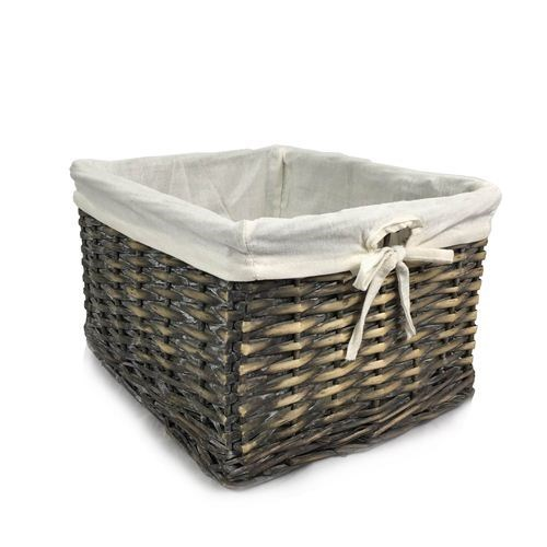 Rectangle Basket Tray with Linen 32 X 16.5 X 10 cm
