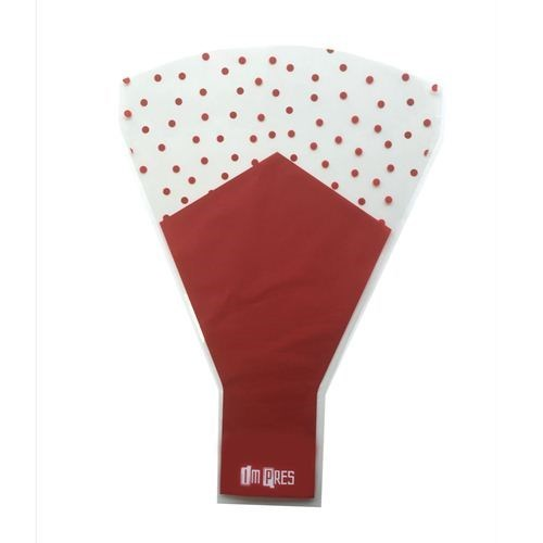 Flower Sleeves Red with Dots - 10Bx35Tx48L (50 pk)