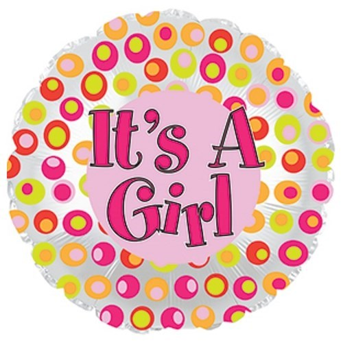 Its A Girl Colourful Dots