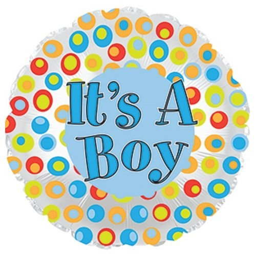 Its A Boy Colourful Dots