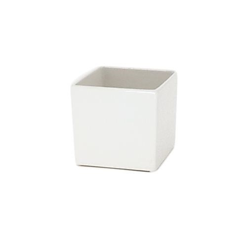 Ceramic Cube Small White