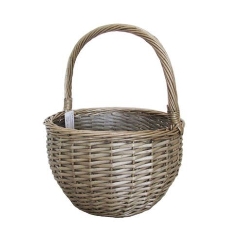 Round Willow Basket Dia 32cm x 19cmH / 39cmHH
