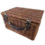 Wicker Hamper with cooler Liner - 39.5*32cmH x 20cmH