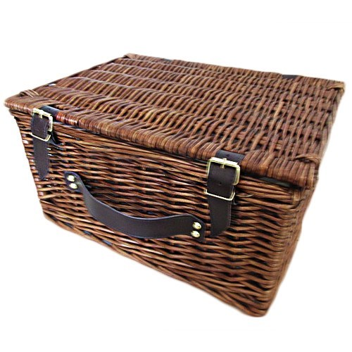 Wicker Hamper with cooler Liner