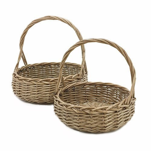Round Willow Basket - Set of 2