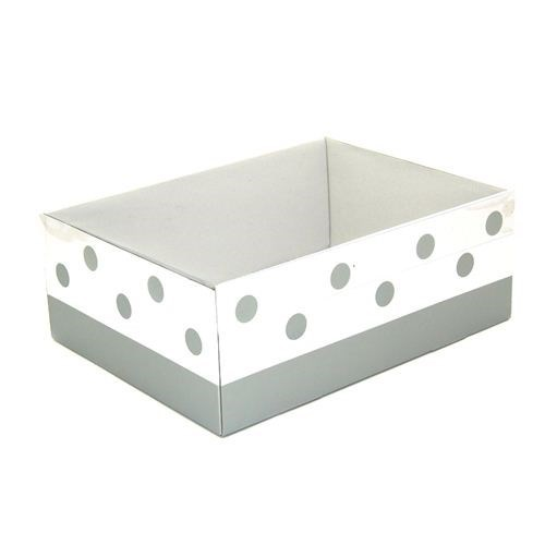 Gift Box With Silver Dots and Clear Lid