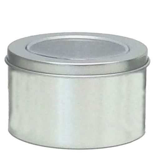 Round Tin with Clear Acetate lid Pkt 12 - Medium