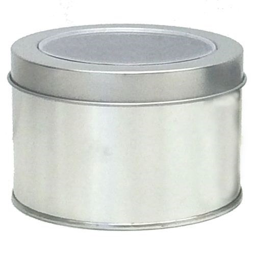 Round Tin with Clear Acetate lid Pkt 12- Large
