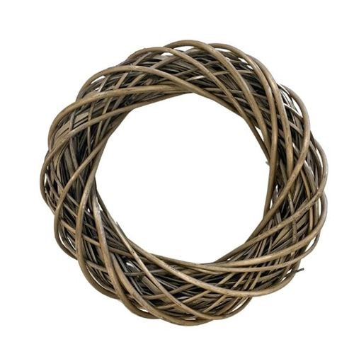 Willow Wreath Dark Grey - 35cmD