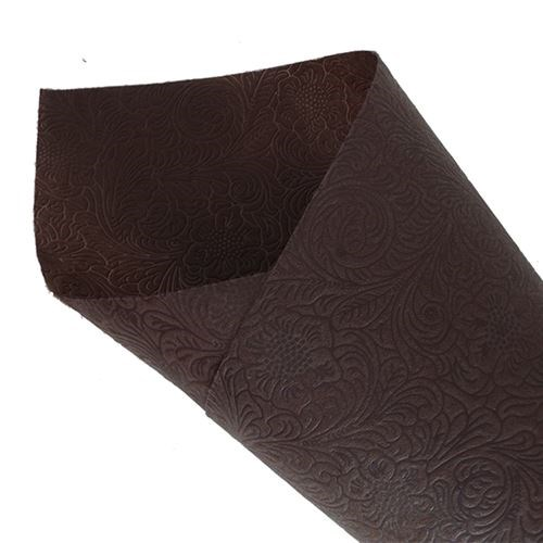 Non Woven Floral Ptn Pressed 50cm x 10yds - Brown