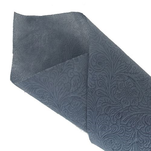 Non Woven Floral Ptn Pressed 50cm x 10yds - Grey