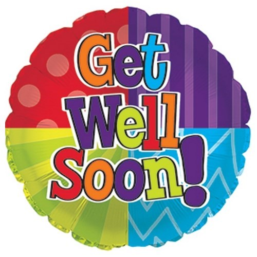 Get Well Soon Dots & Stripes