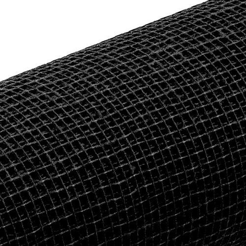 Jute Natural Mesh Black-54cmWx10yd