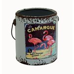 Rustic Paint Can - Grey Flamingo 145x135x150mm
