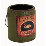 Rustic Paint Can - Olive Flamingo 145x135x150mm
