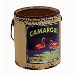 Rustic Paint Can - Egg Shell Flamingo 145x135x150mm