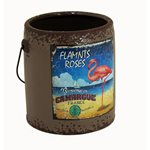 Rustic Paint Can - Twig Flamingo 145x135x150mm