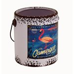 Rustic Paint Can - Lilac Flamingo 145x135x150mm