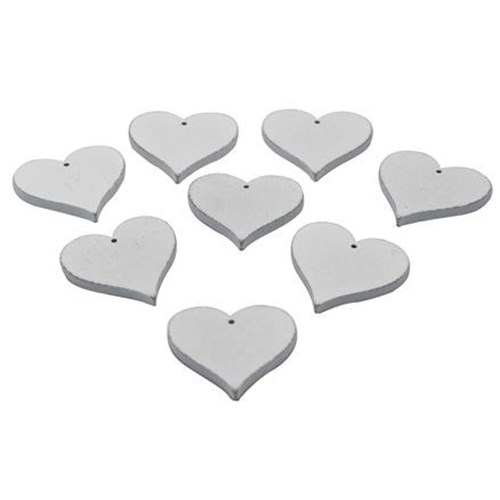 Wooden Heart With Hole (10 pk)