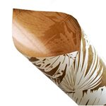 Pearlwrap - White Leaf on Kraft ptn - 50 x 60cm Sheet (pk 50 shts)