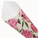 Pearlwrap - Pink Peonies on Cream - 50 x 60cm Sheet (pk 50 shts)