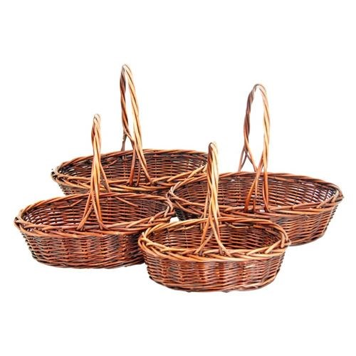 Oval Willow Baskets Set of 4