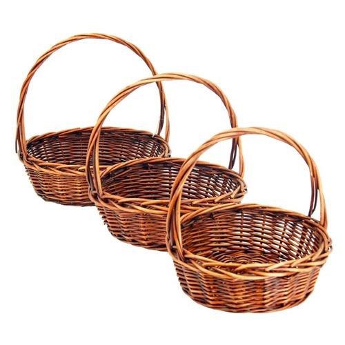 Round willow Baskets Set of 3