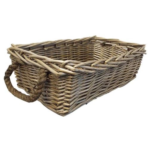 Thick Willow Rope Handle Tray