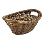 Oval Mini Laundry Basket Grey/Brown - 39cm long x 30cmWx14cmH
