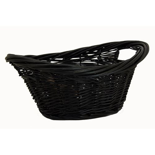 Oval Mini Laundry Basket Black