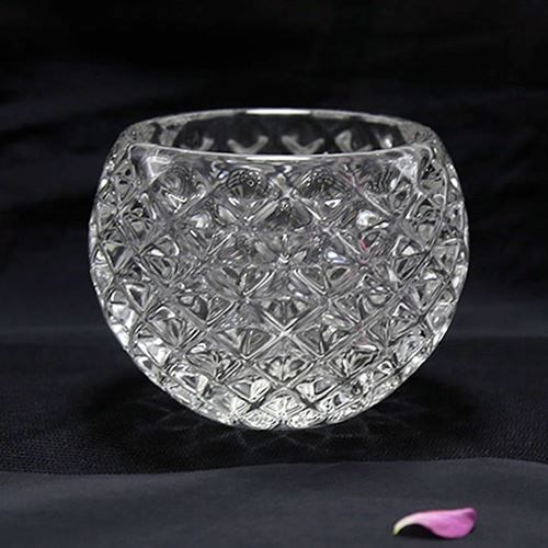 Medium Etched Tealight  - 8cm dia x 8cm H