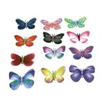 Stick on Organza Butterfly 60mm- 12 assorted