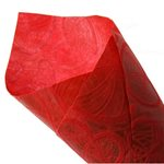 Heart Leaf Non-Woven Roll - Wine - 50cmx10m