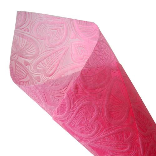 Heart Leaf Non-Woven Roll - Pink - 50cmx10m